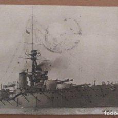 Postales: POSTAL BARCO DE GUERRA ACORAZADO H.M.S. MONARCH CIRCULADA 1918 MARINA INGLESA. Lote 206127291