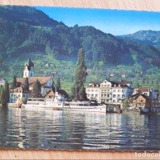 Postales: TARJETA POSTAL - SOL DEL HOTEL - BECKENRIED EN VIERWALDSTÄTTERSEE - BARCO. Lote 206252976