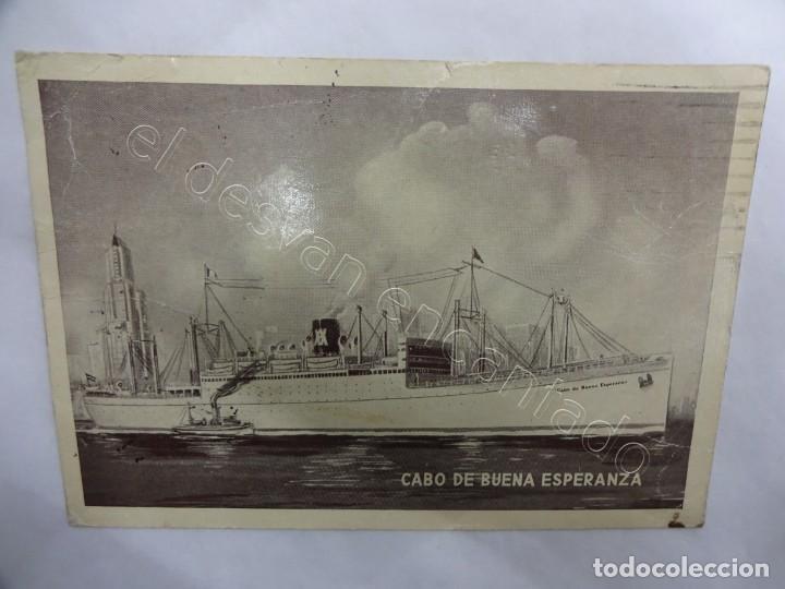 BUQUE CABO DE BUENA ESPERANZA. POSTAL YBARRA & CÍA. (Postales - Postales Temáticas - Barcos)
