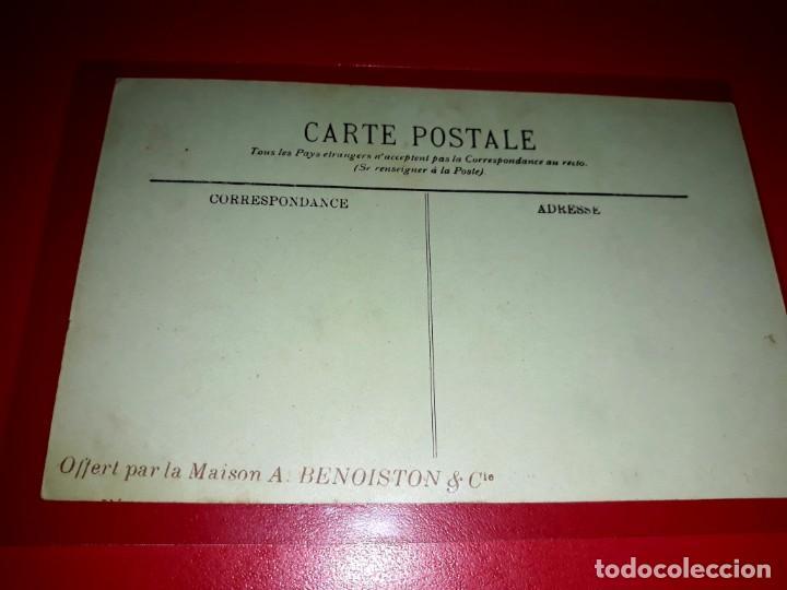"""Postales: Marine de Guerre """" L´Iena """" Acorazado Regalo de la casa Benoiston & Cia Sin circular - Foto 2 - 206510522"""