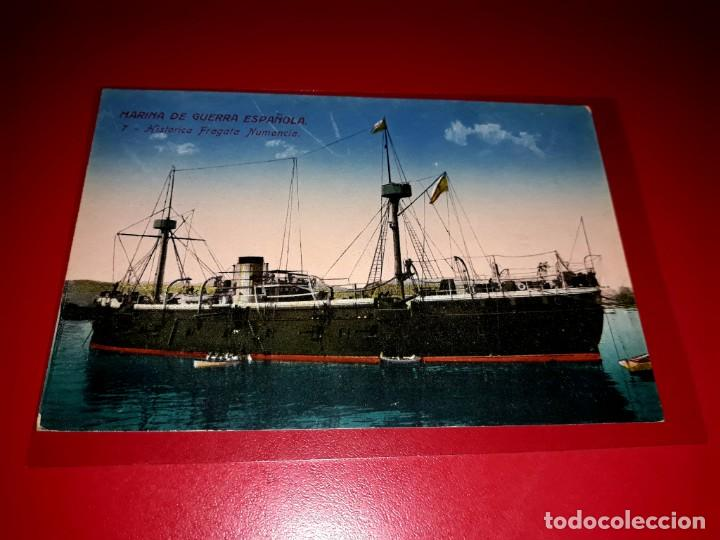 "MARINA DE GUERRA ESPAÑOLA "" HISTORICA FRAGATA NUMANCIA "" SIN CIRCULAR (Postales - Postales Temáticas - Barcos)"