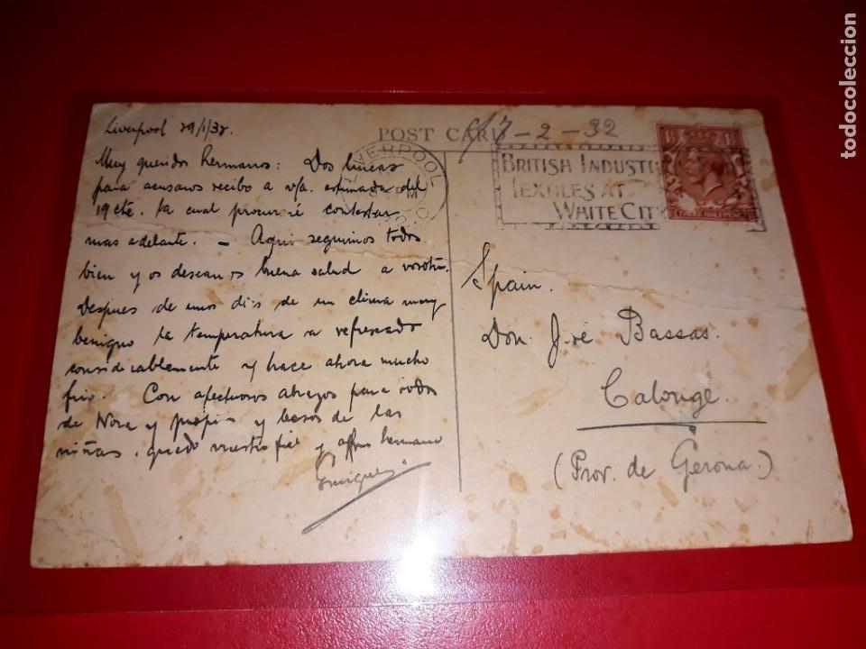 """Postales: """" Ulster Monarch """" Express Service Liverpool - Belfast Circulada con sello - Foto 2 - 206513723"""