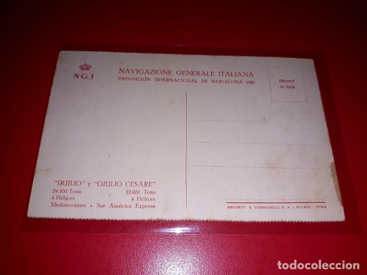 """Postales: Navigazione Generale Italiana """" Duilio """" y """" Julio Cesare """" Sin Circular - Foto 2 - 206514082"""