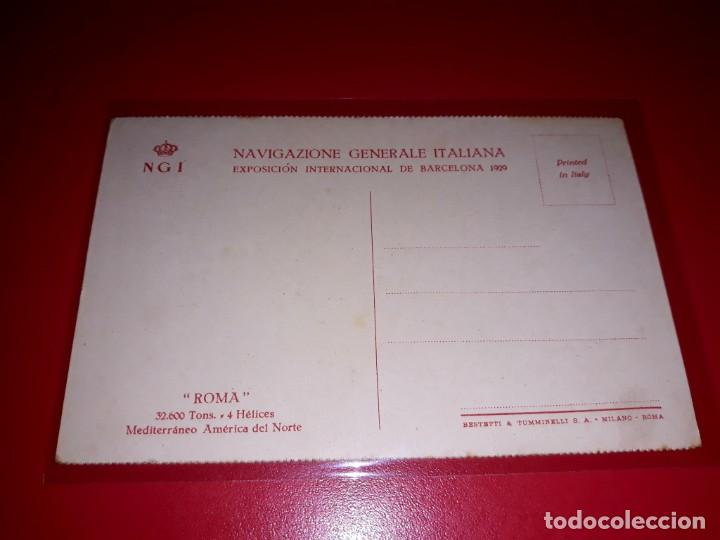 """Postales: Navigazione Generale Italiana """" Roma """" Sin Circular - Foto 2 - 206514347"""