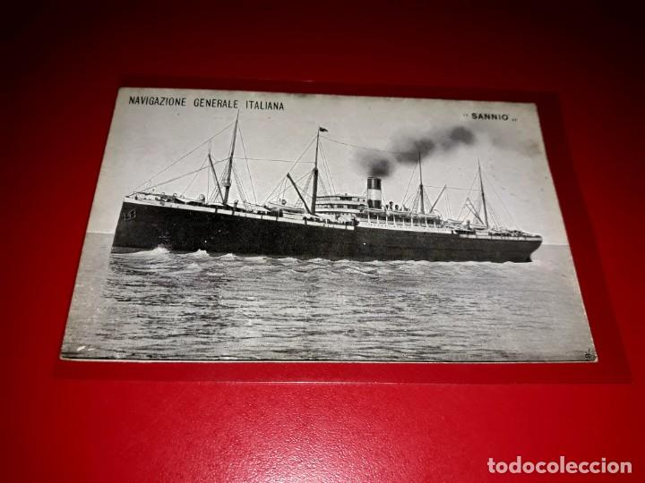 """NAVIGAZIONE GENERALE ITALIANA """" SANNIO """" SIN CIRCULAR (Postales - Postales Temáticas - Barcos)"""