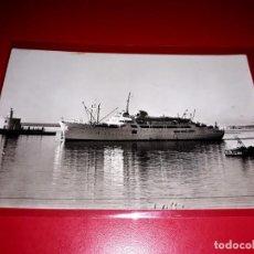 """Postales: BUQUE """" CIUDAD DE BURGOS """" FOTO CASA PLANAS SIN CIRCULAR. Lote 206525723"""