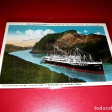 """Postales: VAPOR """" PRESIDENT ADAMS DE LA DOLLAR LINE. ESCRITA EN 1927. Lote 206527067"""