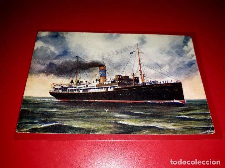 COMPAÑIA TRANSMEDITERRANEA ESCRITA (Postales - Postales Temáticas - Barcos)