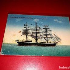 "Postales: MARINA DE GUERRA ESPAÑOLA "" CORBETA NAUTILUS "". Lote 207550356"