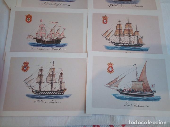22-PRECIOSA SERIE DE POSTALES, NAVIOS, MUSEO DE LA MARINA, PORTUGAL (Postales - Postales Temáticas - Barcos)