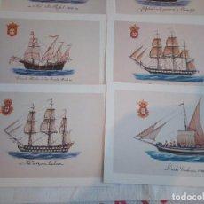 Postales: 22-PRECIOSA SERIE DE POSTALES, NAVIOS, MUSEO DE LA MARINA, PORTUGAL. Lote 207568662