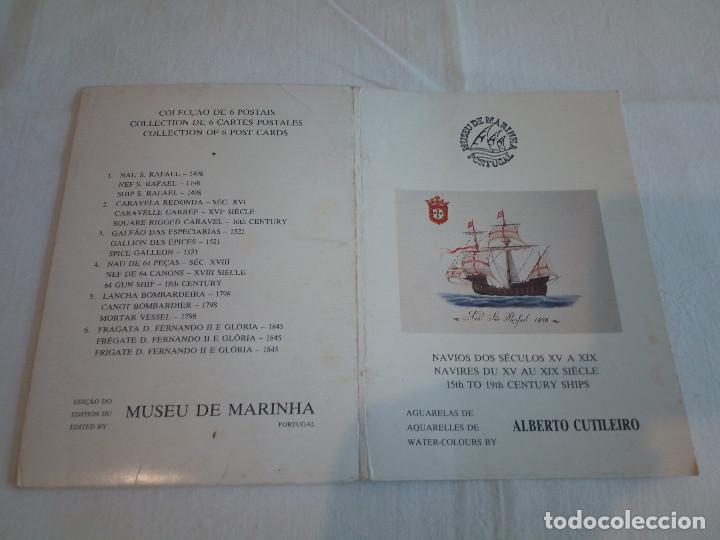 Postales: 22-PRECIOSA SERIE DE POSTALES, NAVIOS, MUSEO DE LA MARINA, PORTUGAL - Foto 4 - 207568662