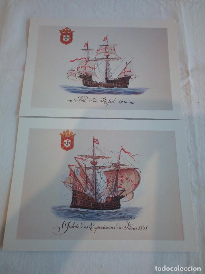 Postales: 22-PRECIOSA SERIE DE POSTALES, NAVIOS, MUSEO DE LA MARINA, PORTUGAL - Foto 5 - 207568662