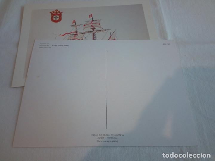 Postales: 22-PRECIOSA SERIE DE POSTALES, NAVIOS, MUSEO DE LA MARINA, PORTUGAL - Foto 6 - 207568662
