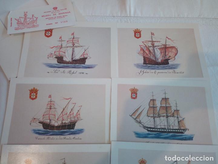 Postales: 22-PRECIOSA SERIE DE POSTALES, NAVIOS, MUSEO DE LA MARINA, PORTUGAL - Foto 8 - 207568662