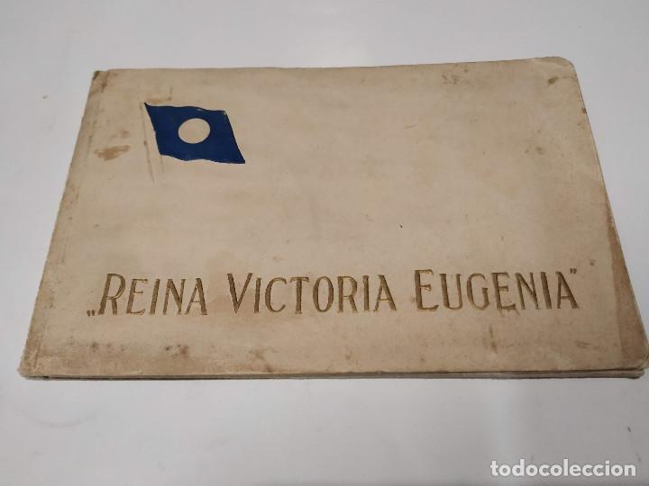 BLOC DE 8 POSTALES REINA VICTORIA EUGENIA - COMPAÑÍA TRASATLÁNTICA ESPAÑOLA (Postales - Postales Temáticas - Barcos)