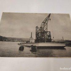 Postales: POSTAL GRUA FLOTANTE DE 100 TND. - SOCIEDAD ESPAÑOLA DE CONSTRUCCIÓN NAVAL - SESTAO (BILBAO). Lote 210661354