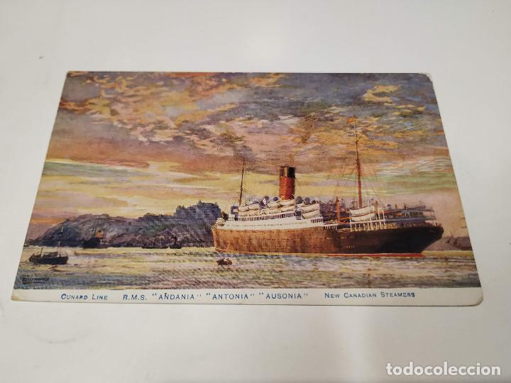 POSTAL R.M.S. ANDANIA-ANTONIA-AUSONIA - CUNARD LINE (Postales - Postales Temáticas - Barcos)