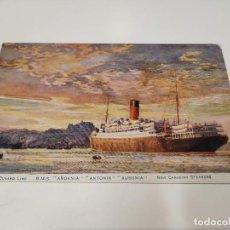 Postales: POSTAL R.M.S. ANDANIA-ANTONIA-AUSONIA - CUNARD LINE. Lote 210662865
