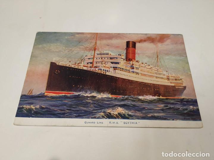 POSTAL R.M.S. SCYTHIA - CUNARD LINE (Postales - Postales Temáticas - Barcos)