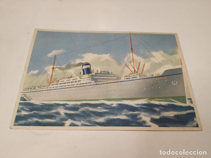 POSTAL TRANSATLÁNTICO AURIGA - FRATELLI GRIMALDI ARMATORI (Postales - Postales Temáticas - Barcos)