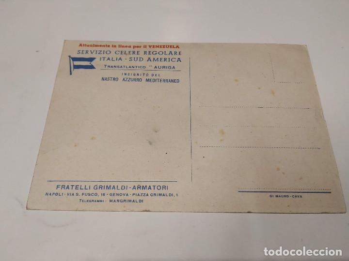 Postales: POSTAL TRANSATLÁNTICO AURIGA - FRATELLI GRIMALDI ARMATORI - Foto 2 - 210663690