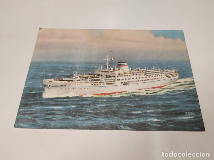 POSTAL M.S. AURELIA - COGEDAR LINE - GENOVA (Postales - Postales Temáticas - Barcos)
