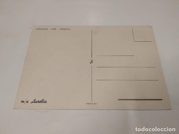 Postales: POSTAL M.S. AURELIA - COGEDAR LINE - GENOVA - Foto 2 - 210663822