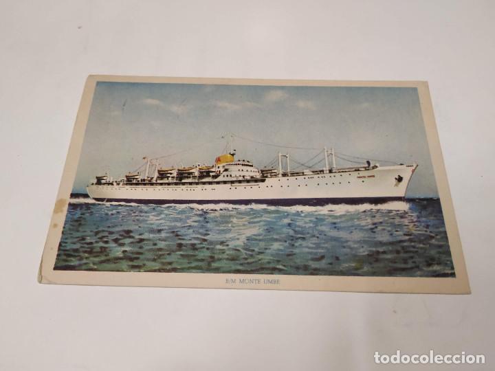 POSTAL B.M. MONTE UMBE - NAVIERA AZNAR (Postales - Postales Temáticas - Barcos)