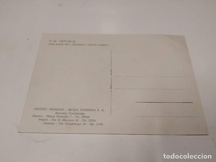 Postales: POSTAL T.N. IRPINIA - FRATELLI GRIMALDI ARMATORI - Foto 2 - 210664645