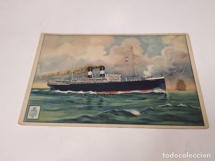 POSTAL PIROSCAFO NAPOLI - NAVIGAZIONE GENERALE ITALIANA (Postales - Postales Temáticas - Barcos)