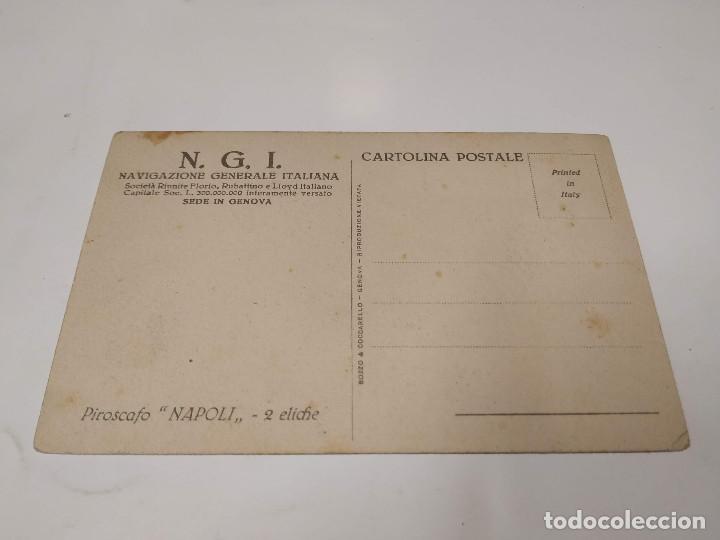 Postales: POSTAL PIROSCAFO NAPOLI - NAVIGAZIONE GENERALE ITALIANA - Foto 2 - 210664906