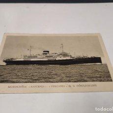 Postales: POSTAL MOTONAVÍOS SATURNIA-VULCANIA - CÓSULICH LINE - LLOYD TRIESTINO. Lote 210666954