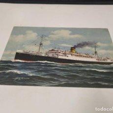 Postales: POSTAL S.S. AEOLIA - THE HELLENIC MEDITERRANEAN LINES. Lote 210668891