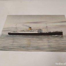 Postales: POSTAL M.S. LYDIA - THE HELLENIC MEDITERRANEAN LINES. Lote 210668980