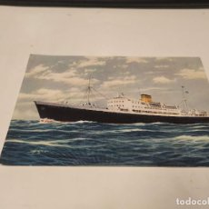 Postales: POSTAL M.S. MASSALIA - THE HELLENIC MEDITERRANEAN LINES. Lote 210669329