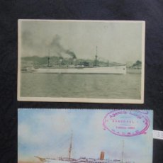 Postales: 2 POSTALES BARCOS 1930. Lote 218470957