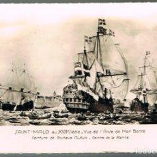 Postales: BARCOS EN EL PUERTO DE SAINT-MALO EN EL SIGLO XVII, CIRCULADA EN 1959 EN FRANCIA. Lote 218616491