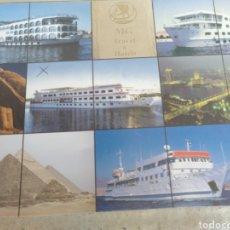 Postales: M G TRAVEL & HOTELS M/S LIBERTY M/S DIAMOND BOAT M/S AURORA. M/S GOLDEN. SIN CIRCULAR. Lote 218677900