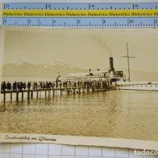 Postales: POSTAL DE BARCOS NAVIERAS. BARCO BUQUE EN LAGO CHIEMSEE, ALEMANIA. 2308. Lote 221727143