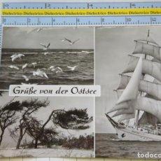 Postales: POSTAL DE BARCOS NAVIERAS. BARCO BUQUE ESCUELA WILHELM PIECK EN MAR BÁLTICO, ALEMANIA. 2315. Lote 221727455