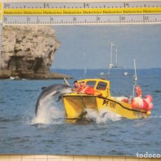 Postales: POSTAL DE BARCOS NAVIERAS. BARCO BUQUE AVISTADOR DE DELFINES INGLATERRA. 2319. Lote 221727762