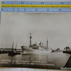 Postales: POSTAL DE BARCOS NAVIERAS. BARCO BUQUE CHARLESVILLE EN LA ESCLUSA DE BALDUINO AMBERES. 2320. Lote 221727791