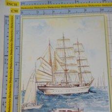 Postales: POSTAL DE BARCOS NAVIERAS. BARCO BUQUE DIBUJO GORCH FOCK. 2324. Lote 221728026