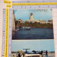 Postales: POSTAL DE BARCOS NAVIERAS. BARCO BUQUE HOVERCRAFT EN LA EXPO 67 1967 MONTREAL CANADÁ. 2325. Lote 221728036