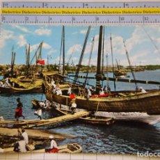 Postales: POSTAL DE BARCOS NAVIERAS. BARCO BUQUE EN EL ANTIGUO PUERTO DE MOMBASA, KENIA. 2326. Lote 221728106