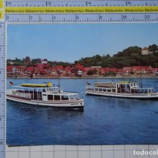 Postales: POSTAL DE BARCOS NAVIERAS. BARCO BUQUE FLUVIAL STAUSTUFE Y GEESTHACHT ALEMANIA. 2342. Lote 221843896