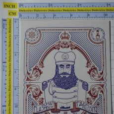 Postales: POSTAL DE BARCOS NAVIERAS. DIBUJO GRAFITTI CAPITÁN DE BARCO. HUMAN FLASHBOY. 2350. Lote 221844260