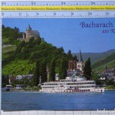 Postales: POSTAL DE BARCOS NAVIERAS. BARCO BUQUE WAPPEN VON MAINZ EN BACHARACH AM RHEIN ALEMANIA. 2357. Lote 221844521
