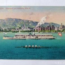 Postales: POSTAL ZURICH - ALPENQUAND Y UETLIBERG., CIRCULADA, AÑO 1922. Lote 222354500